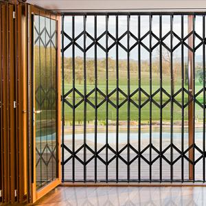 sequre trellis retractable security gates security doors roller